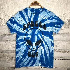 Tie Dyed Spaced Out Alien Graphic T-shirt